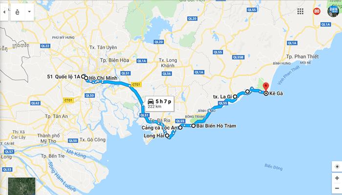 Cung đường đi Mũi Kê Gà từ Sài Gòn