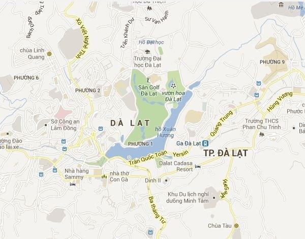 Bản đồ Đà Lạt