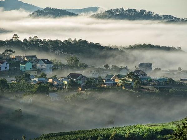 Sáng sớm ở Đà Lạt vào một ngày tháng 12