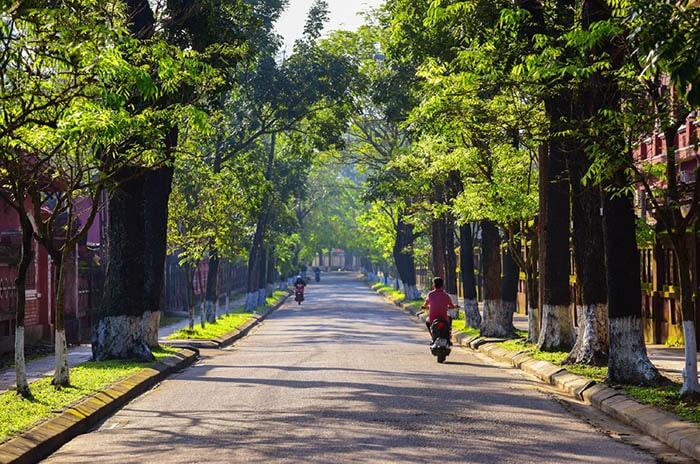Thời tiết mùa xuân tháng 3 ở Huế khá đẹp