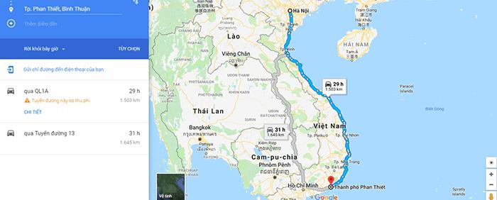 Cung đường phượt từ Hà Nội đi Bình Thuận