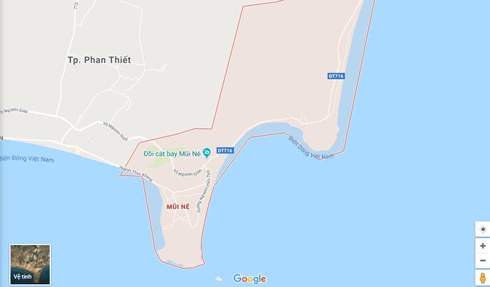Bản đồ các địa điểm ở Mũi Né