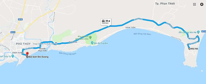 Cung đường Mũi Né - Bãi biển Đồi Dương