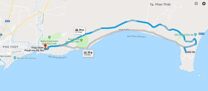 Cung đường Mũi Né - Tháp Chăm Po Sah Inu