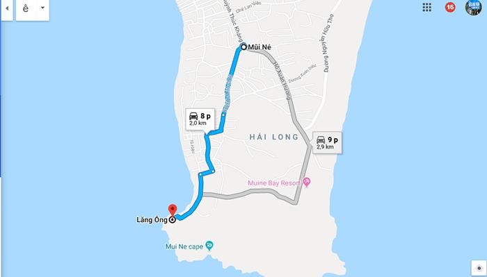 Cung đường Mũi Né - Lăng Ông