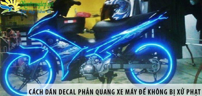 Cách dán decal phản quang xe máy để không bị xử phạt