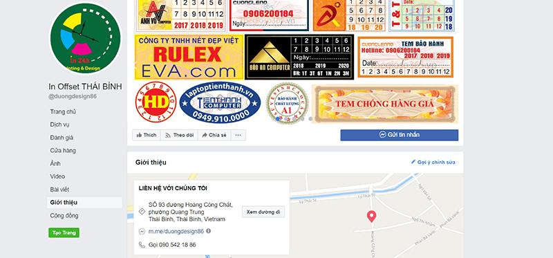 Website công ty In Offset Thái Bình