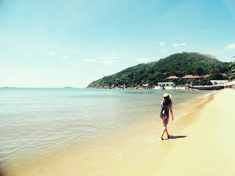 """Bãi biển Quy Nhơn có hình dáng tựa như """"vầng trăng khuyết"""""""