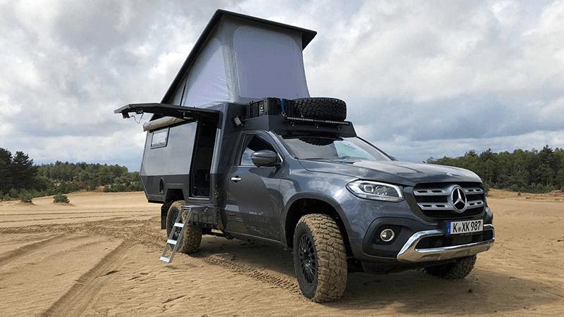 MERCEDES X-CLASS- Nhà di động cho các chuyến cắm trại