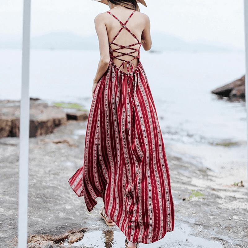 Chiếc váy thần thánh khi đi biển của các bạn nữ