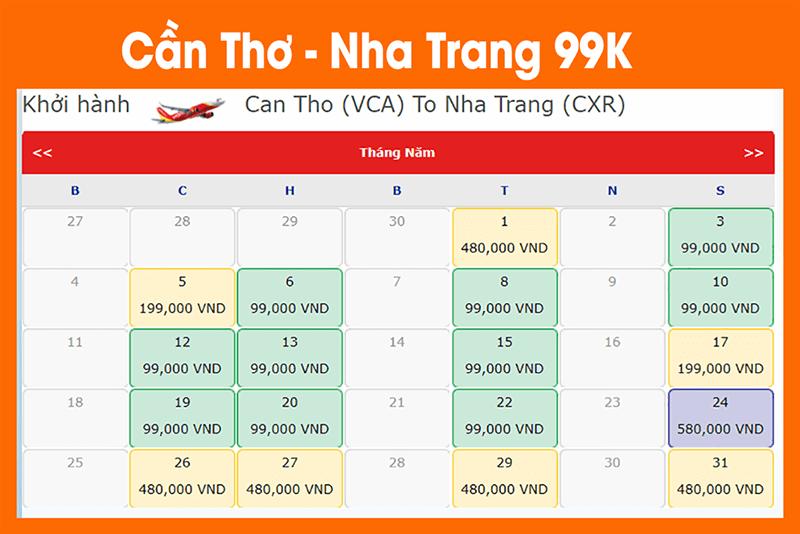 Cùng Sanvemaybay.vn săn vé máy bay giá rẻ đi Nha Trang 49k